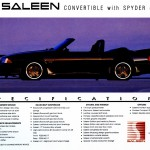 1993 Saleen Mustang Specifications