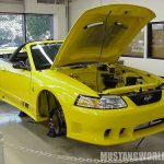 Yellow was discontinued in 2000 (by Ford). Here's a 99 stang waiting for an engine.