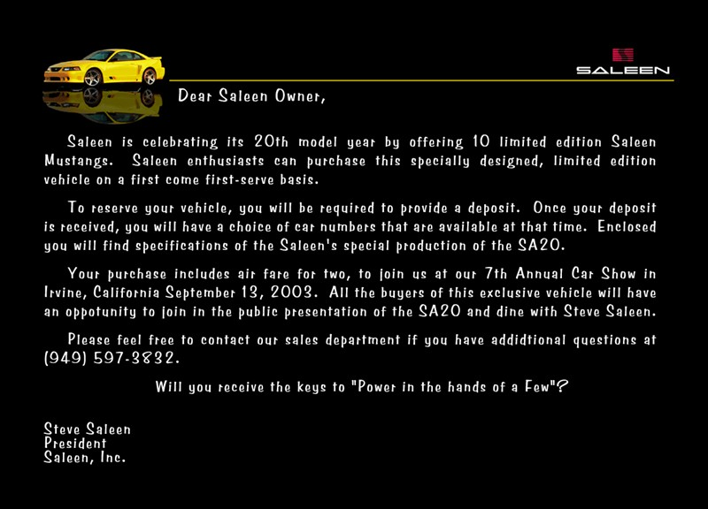 2003 SA-20 invitation