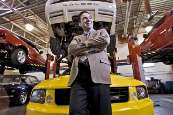 Joe Visconti, president of Saleen Canada could more than double the capacity of its body shop.  Photo: Patrick Sanfacon, La Presse