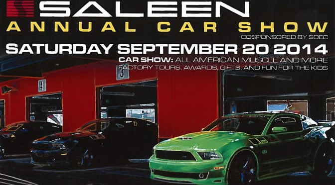 2014 Saleen Show Announcement