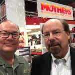 Jim Dvorak & Steve Saleen at the Mothers Polish booth