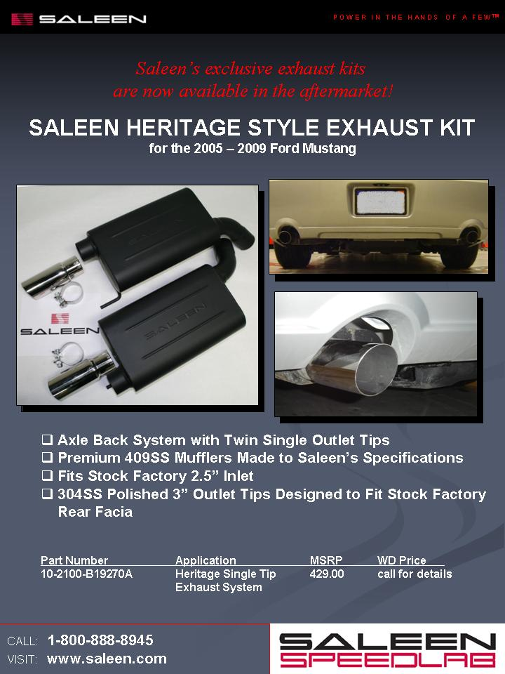 Saleen Heritage exhaust