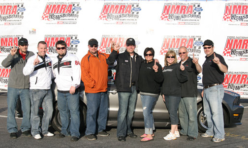 The Brenspeed Crew in Victory Lane celebrating their win at the NMRA Peach State Nationals.