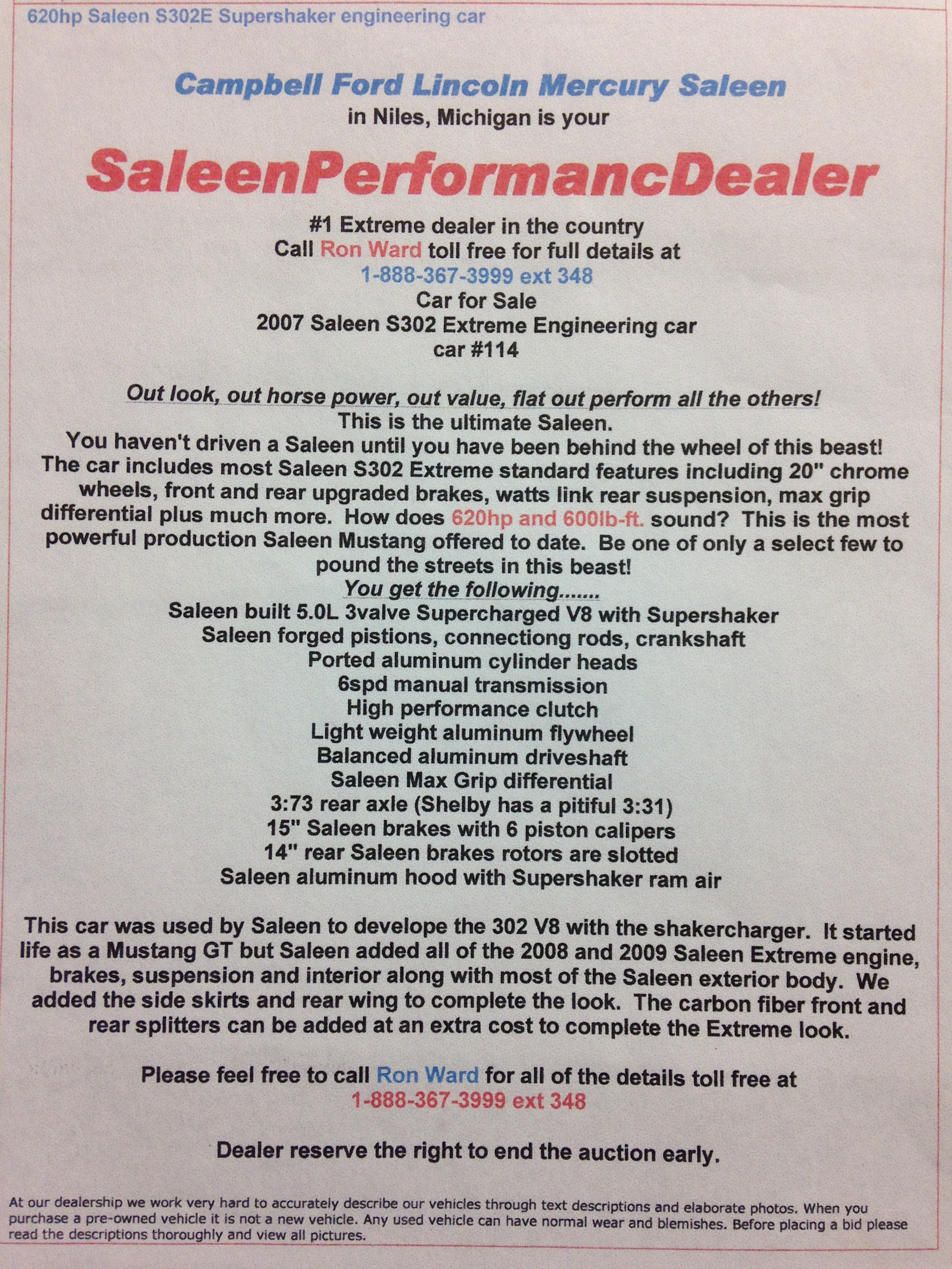 2007 SPEEDLAB MULE HITS eBay  Saleen Owners and Enthusiasts Club