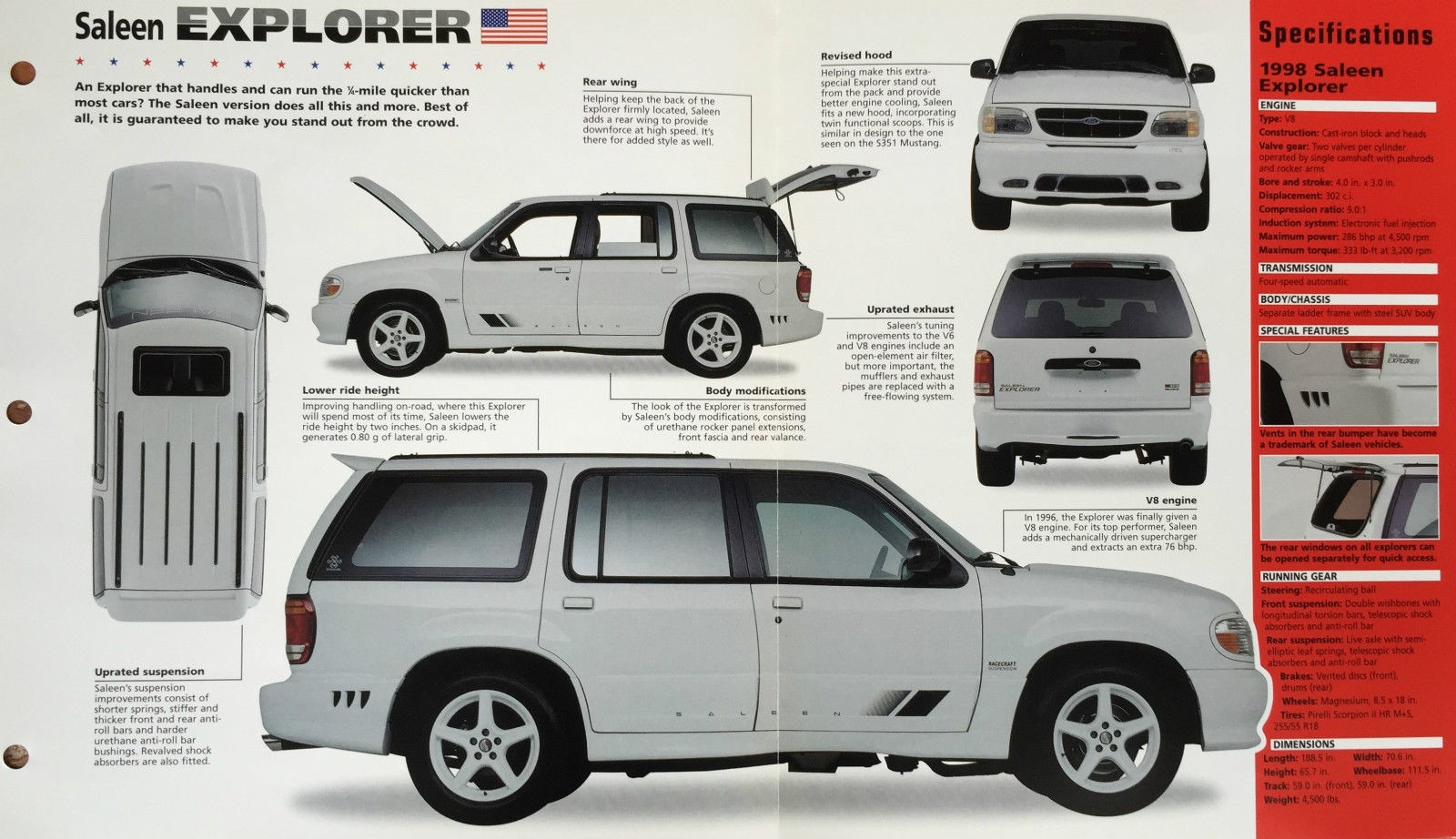 Black Ford Explorer >> 1998 XP6 (98-0060XP) OFFERED ON eBay | Saleen Owners and Enthusiasts Club::.. SOEC – Aiding The ...