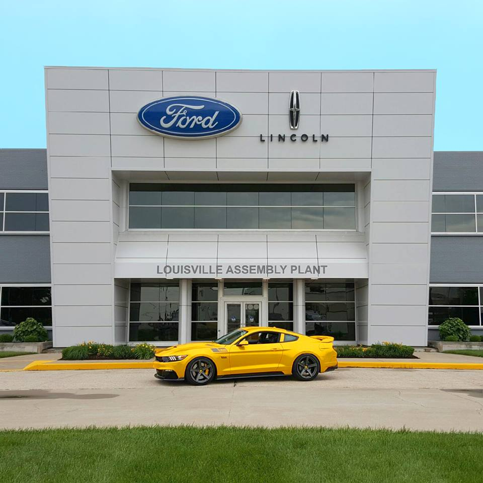 302 Black Label greeting the Ford Louisville Assembly Plant - June 12, 2015
