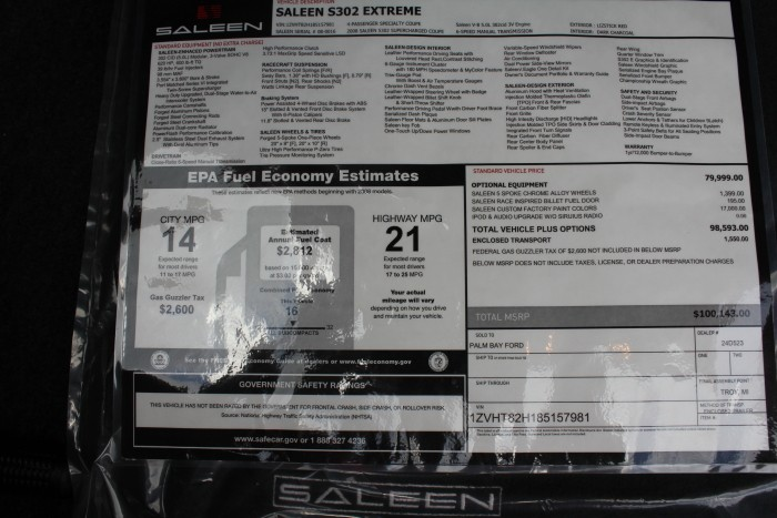 LIZSTICK S302 EXTREME 080016E OFFERED ON eBay  Saleen Owners