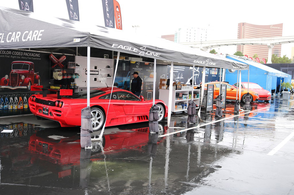 Eagle One booth, Saleen S7