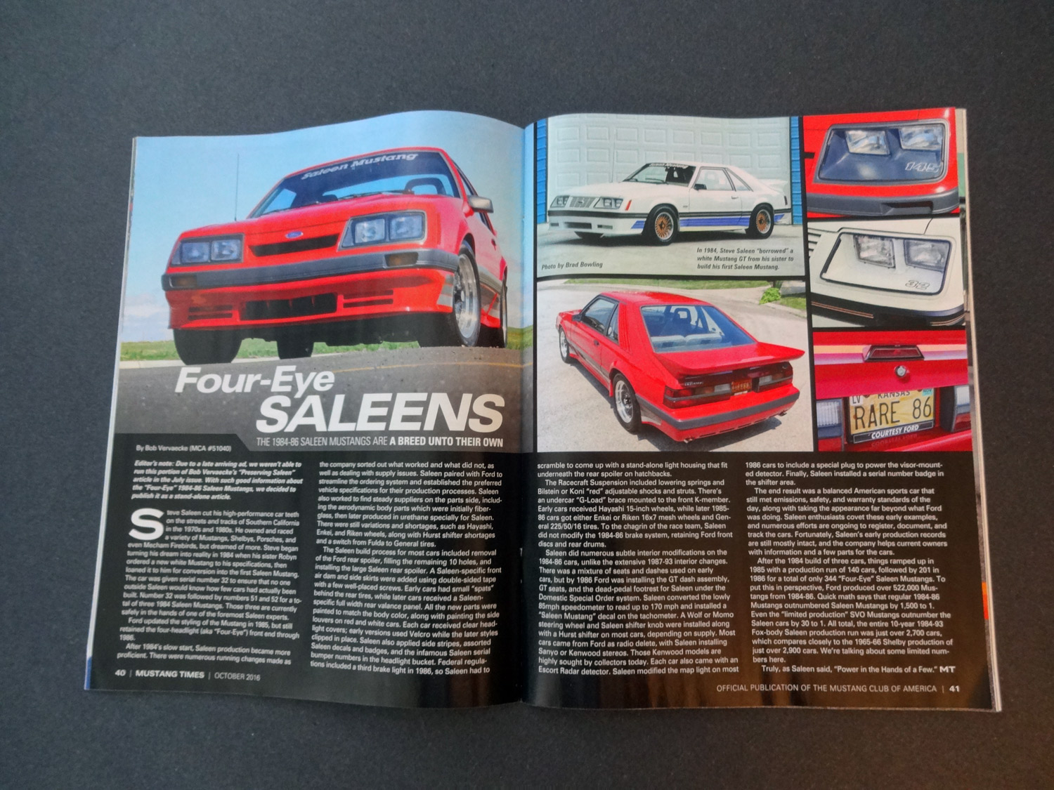 Mustang Times: Four-Eye Saleen Mustangs