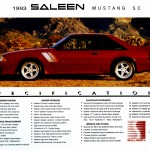 1993 Saleen Mustang SC Specifications