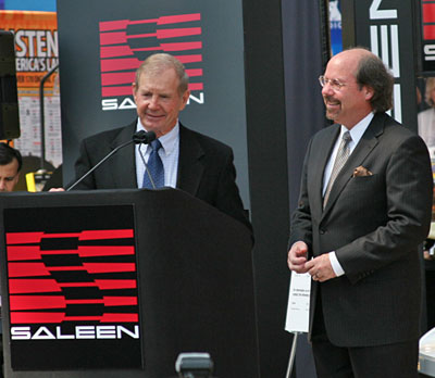 Parnelli Jones and Steve Saleen, New York Auto Show