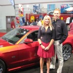 David Byron and Saleen's new spokes model... j/k that's actually his wife.