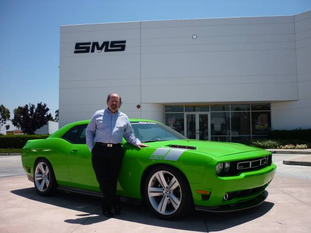 Steve Saleen with his SMS 570 Challenger