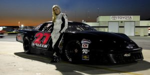 Molly Saleen & her race car.
