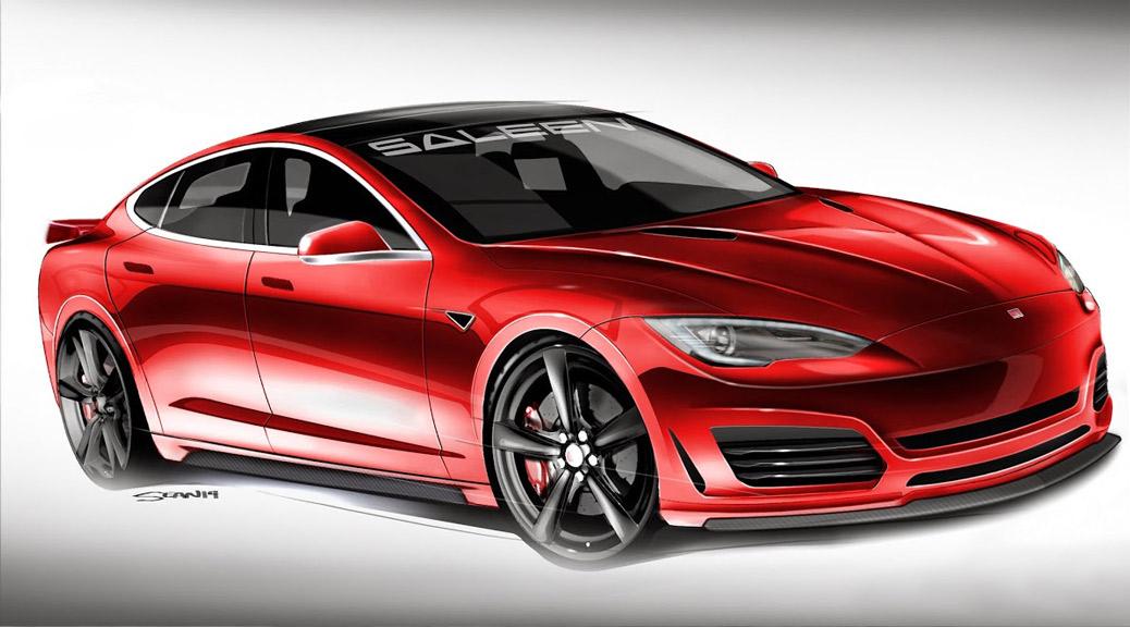 Saleen Tesla S Rendering