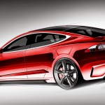 Tesla S Rear Rendering