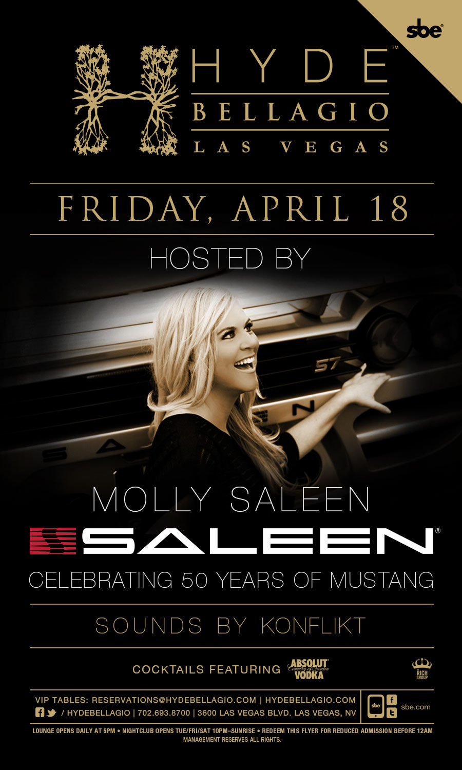 Mustang Party Flyer