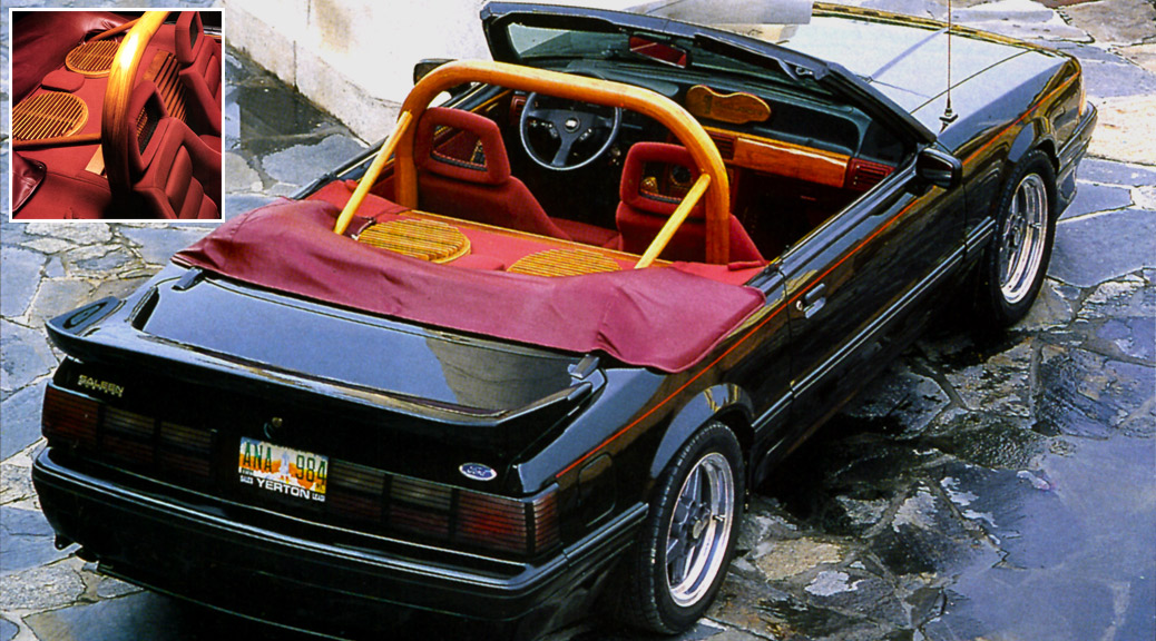 Rear View: 89-0107 Saleen Mustang