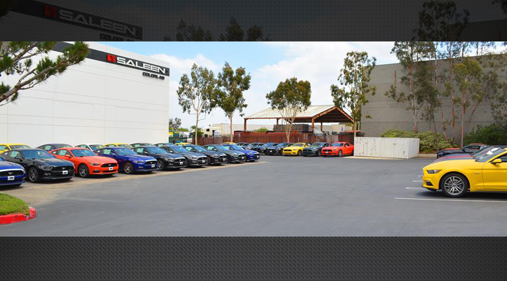 A pool of 2015 Mustang GTs await conversion