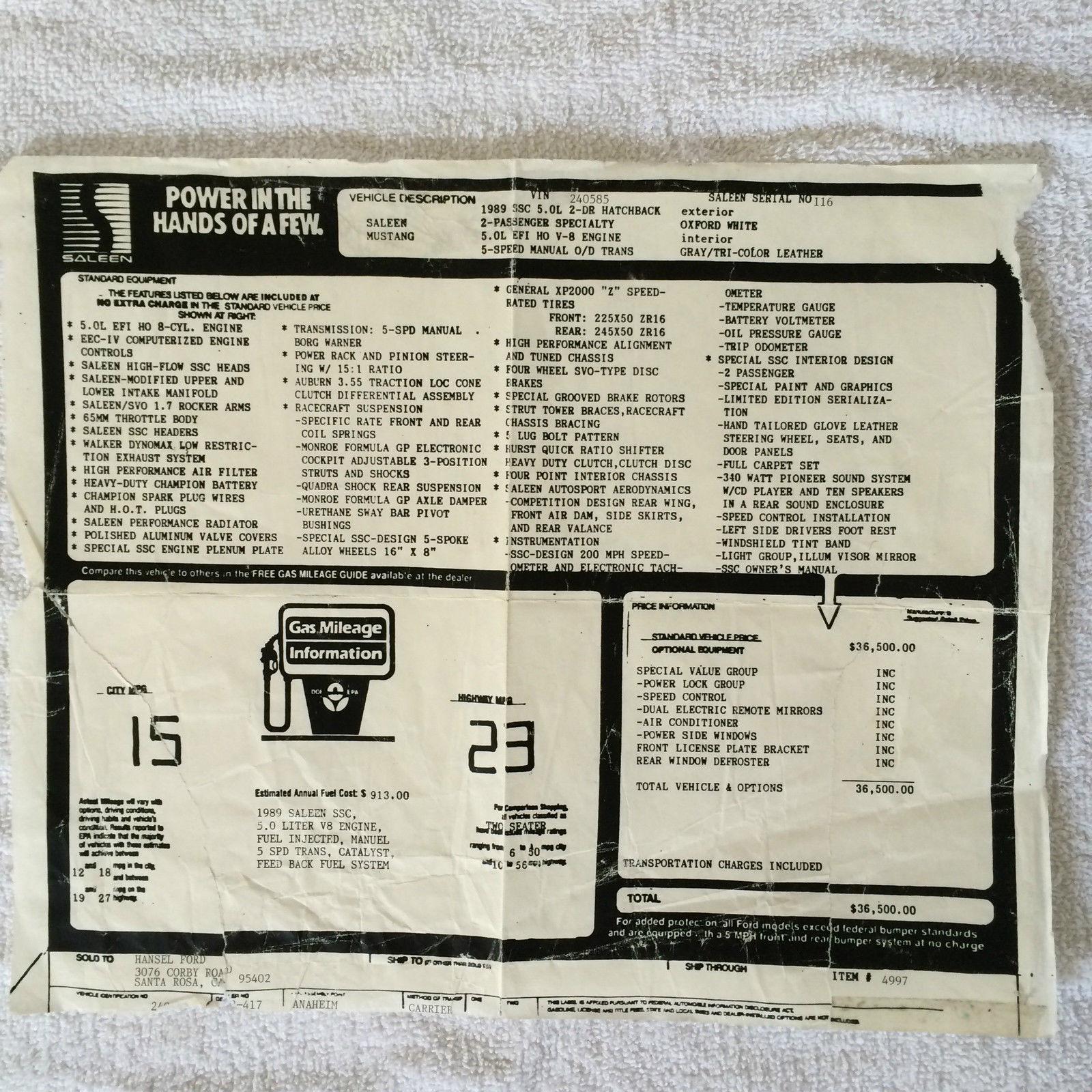 1989 SSC #116