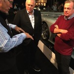 "Discussing Saleen pricing with ""What's My Car Worth?"" producer Roger Williams (L) and Barrett-Jackson CEO Craig Jackson"