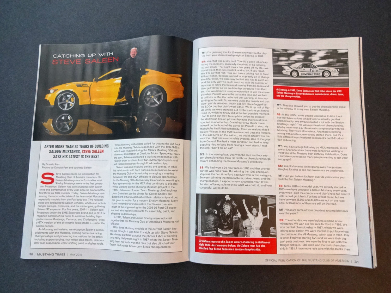 Mustang Times: Steve Saleen Interview