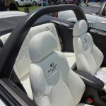 Custom white leather Recaro Trend seating