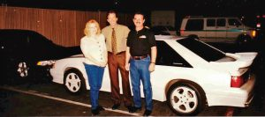 In 1997, Kevin Hauger purchased a specially built 1993 Saleen Mustang from comedian/actor Tim Allen. Kevin and his wife took delivery after a taping of Allen's show Home Improvement.