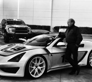 Steve Saleen with Saleen 1 Cup car