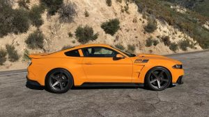 The Saleen-specific bodywork is... not my thing. A Racecraft suspension gives it a lowered stance on its 20-inch wheels.