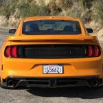 The Saleen taillights have one fewer vertical light than the stock Mustang's.