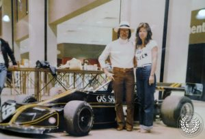 Steve & Liz Saleen with March race car