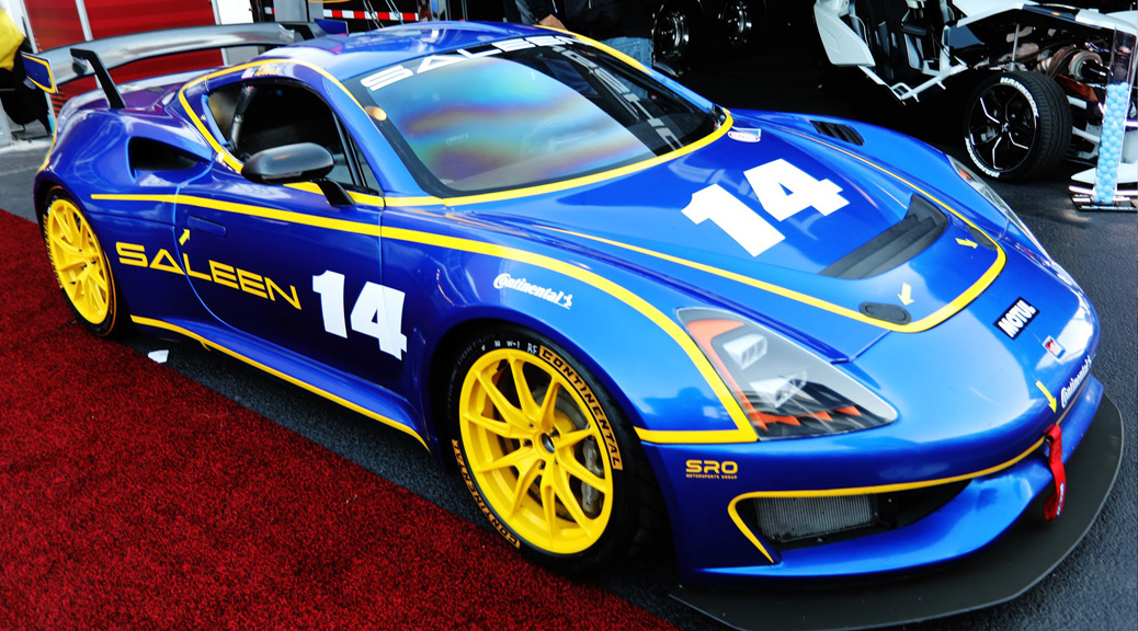 SALEEN 1 CUP CAR ON DISPLAY AT SEMA `19