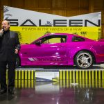 Steve Saleen with 2007 S281 Supercharged in MollyPop Pink paint