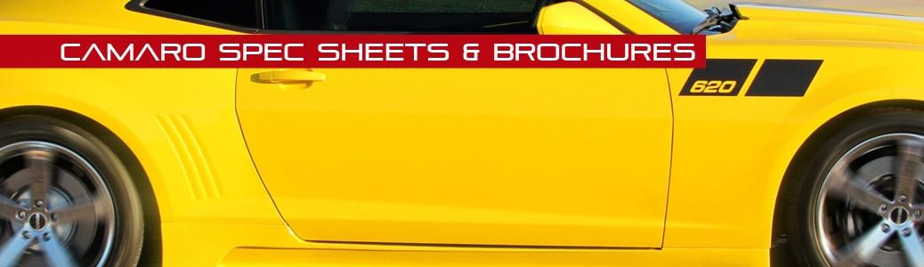 Camaro Spec Sheets & Brochures