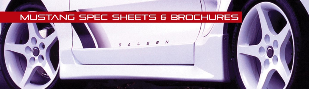 Mustang Spec Sheets & Brochures
